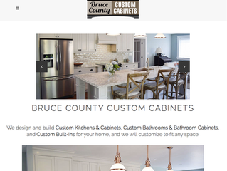 New Bruce County Custom Cabinets Site