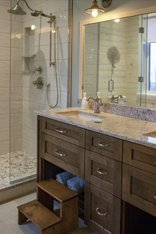 Custom bathroom in two story lakeside home, Saugeen Shores ON