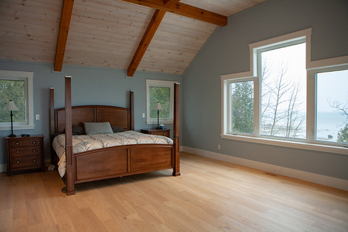 Master bedroom with views of Lake Huron