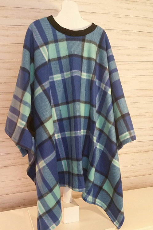 Adult - Blue and Aqua Plaid