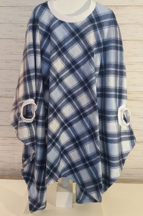 Adult - Blue and White Plaid