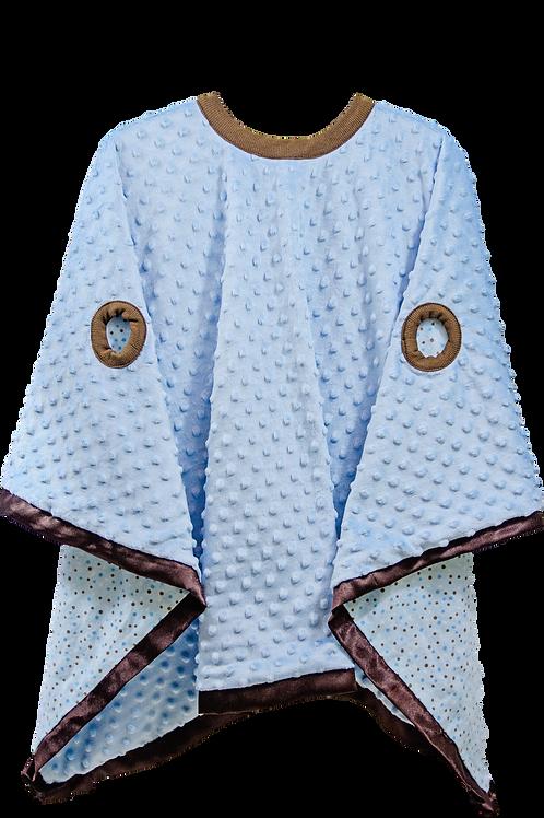 Blue Minky Flannel