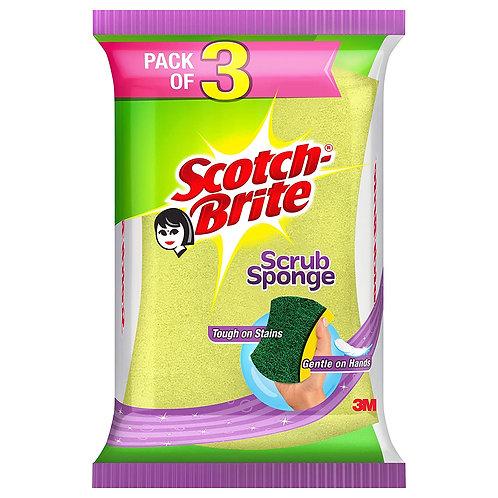 Scotch Brite Scrub Sponge (Large) - Pack of 3N
