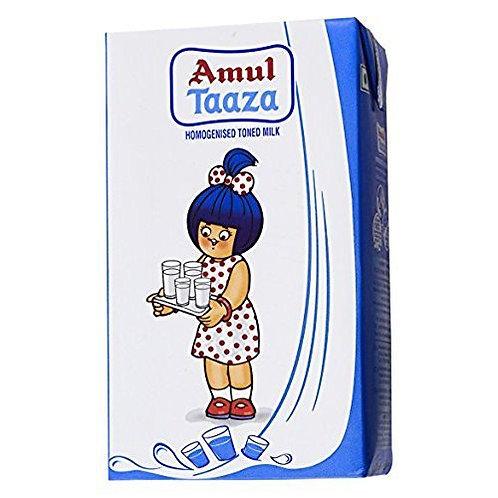Amul Taaza Toned Milk, 1 Ltr (Carton)