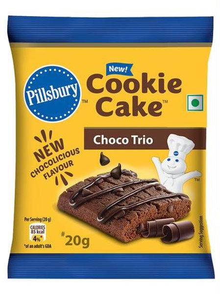 Pillsbury Cookie Cake Choco Trio, 20g
