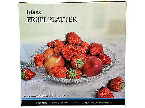 Imported - Glass Fruit Platter