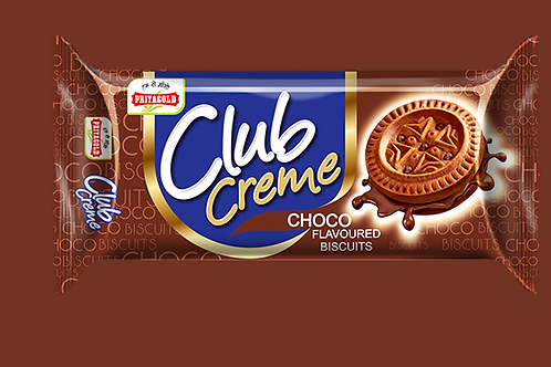 PriyagGold Club Crème Choco Flavoured Biscuits, 43g