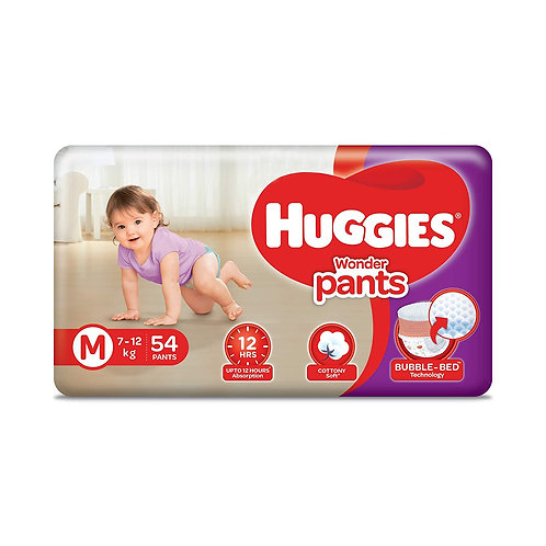 Huggies Wonder Pants (Bubble-Bed),Size-M - 54Pants