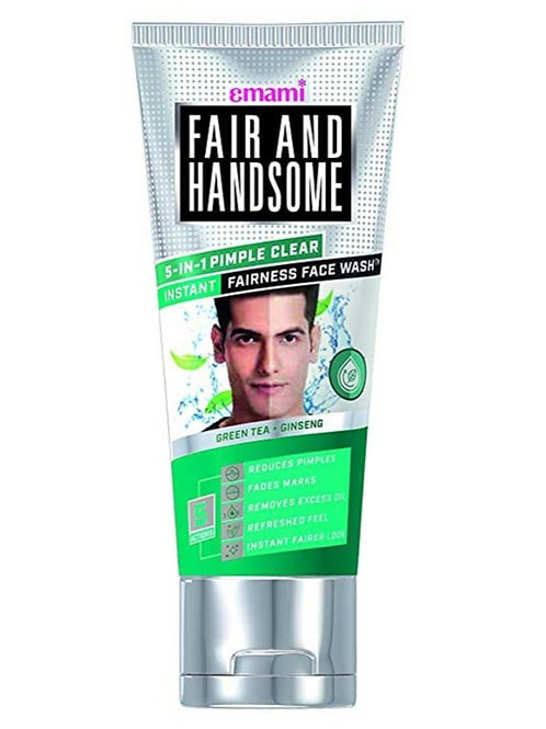 Fair & Handsome 5-IN-1 Pimple Clear Instant Fairness Face Wash, 100g