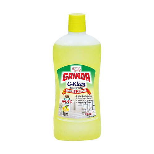 Gainda G-Kleen Disinfectant Surface Cleaner - Citrus Power, 500ml