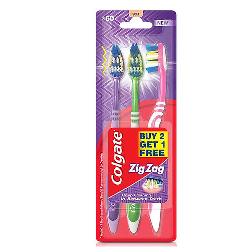Colgate Zig Zag Tooth Brush - Soft (2+1)