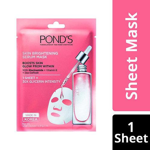 Ponds Skin Brightening Serum Mask With Vitamin E & Niacinamide + Sea Daffodil