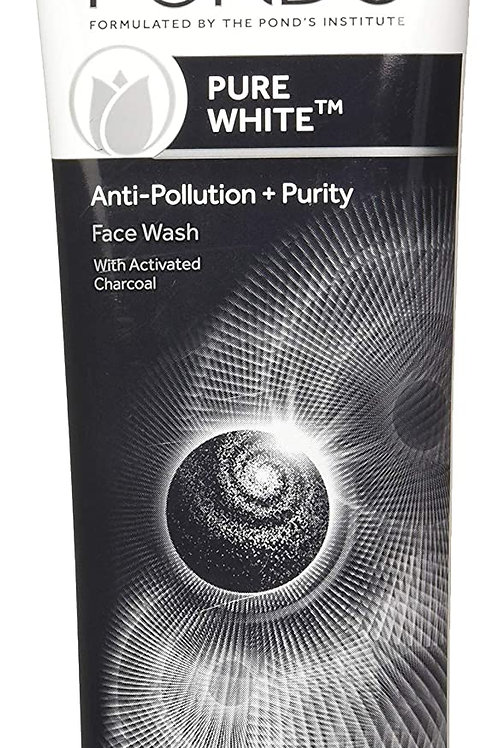 Ponds Pure White Anti Pollution + Purity with Activated Charcoal Face Wash, 100g