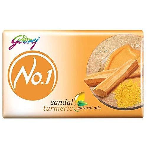 Godrej No.1 Bathing Soap - Sandal & Turmeric, (4 X 63g) = 252g (10% Extra)