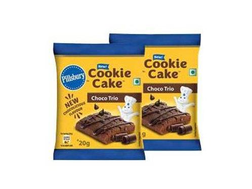 Pillsbury Cookie Cake Choco Trio, 2N x 20g