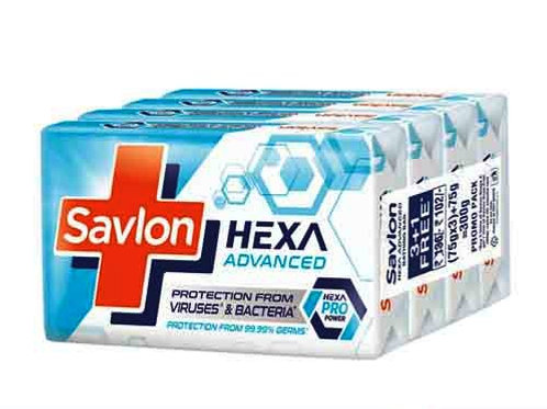 Savlon Hexa Advanced - Soap, 75g x 4N (3+1 FREE)