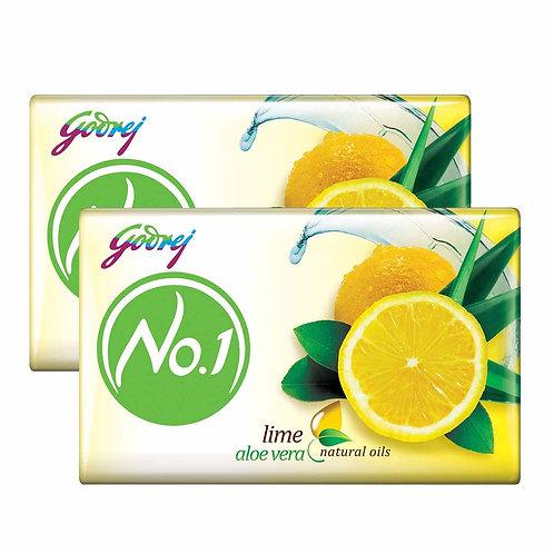 Godrej No.1 Bathing Soap – Lime & Aloe Vera, 150g (1+1)