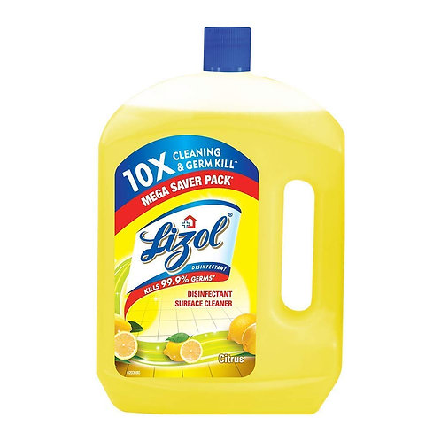 Lizol Disinfectant Surface Cleaner- Citrus, 2Ltr