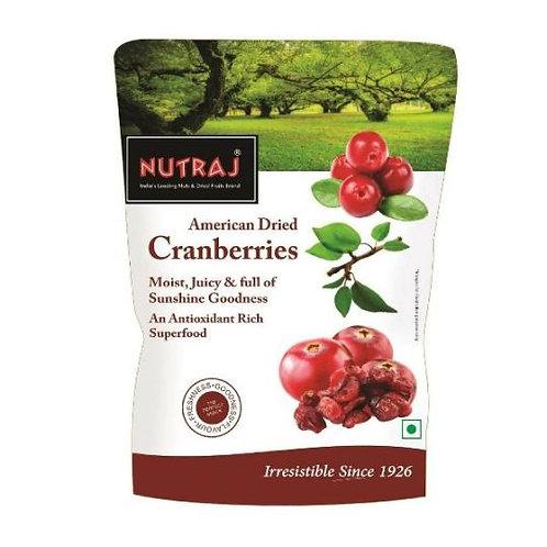 Nutraj - American Dried Cranberries, 180g
