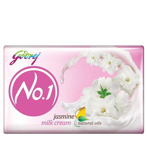 Godrej No.1 Bathing Soap – Jasmine Milk Cream, (4 X 63g) = 252g (10% Extra)