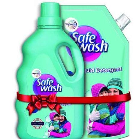 Wipro- Safe Wash Detergent, 2Kg (1Kg+1Kg FREE)