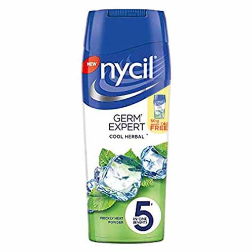 Nycil - Germ Expert - Cool Herbal, 150g - 50g Worth Rs. 40/- FREE