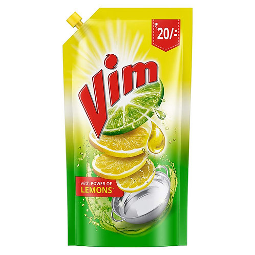 Vim Dish Wash Liquid (Lemon), 155ml (Pouch)