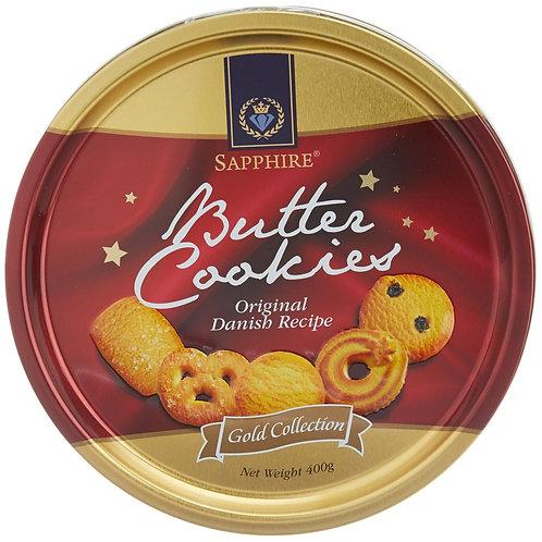 Sapphire- Butter Cookies- Original Danish, 400g