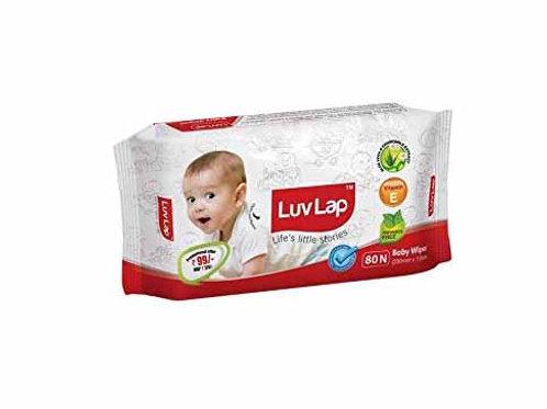 LuvLap Baby Wipes (200mm x 150mm) 72 + 08 Free = 80N