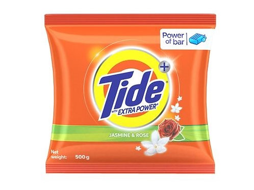 Tide Extra Power (Jasmine & Rose), 500g (FREE - Tide Bar - MRP-5)