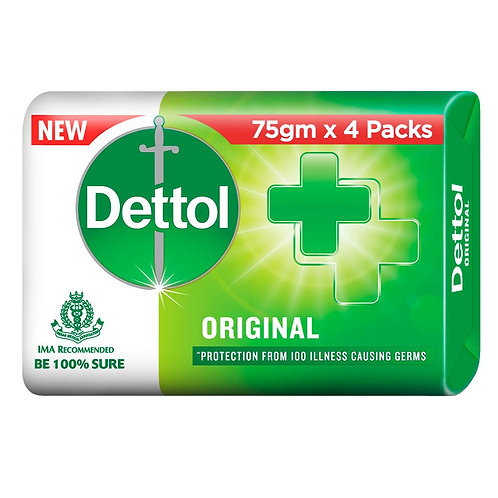 New Dettol Original, 75g (3 + 1 Free)