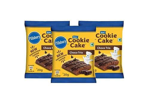 Pillsbury Cookie Cake Choco Trio, 3N x 20g