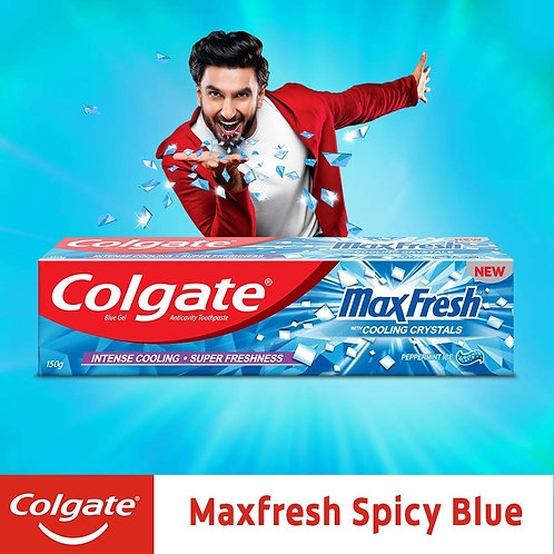 Colgate Max Fresh, Blue Gel Paste with Menthol (Peppermint Ice), 150g