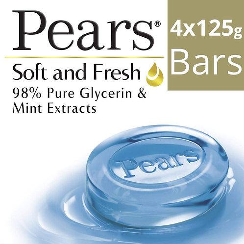 Pears Soft & Fresh Bathing Bar, (3U x 125g) +125g Free (3 + 1)