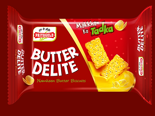 Priya Gold Butter Delight Namkeen Butter Biscuits, 80g