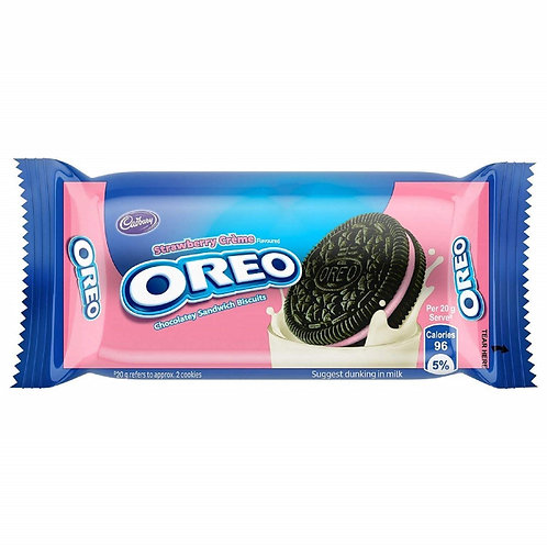 Cadbury Oreo Strawberry Crème Biscuits, 46.3g