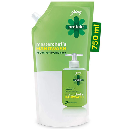 Godrej Protekt Masterchef's Germ Protection Liquid Handwash Refill, 750ml