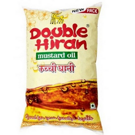 Double Hiran Mustard Oil, 1ltr