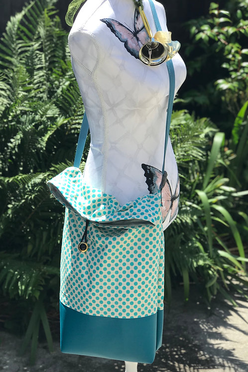 Turquoise Spots & Dots Sack Bag