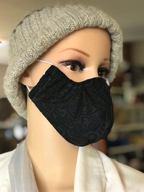 Black Swirl mask