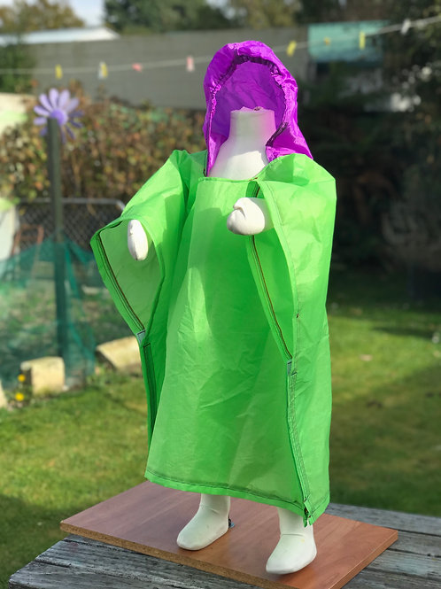 Sunshine Lime Toddler Poncho