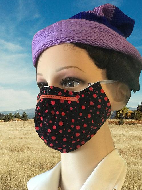 Spot filtered face mask