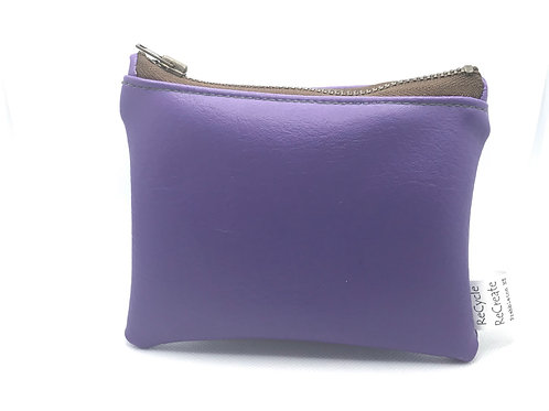 Purple pouch-brown zip
