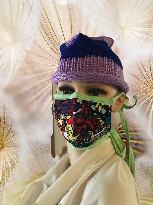 Superhero filter tie mask