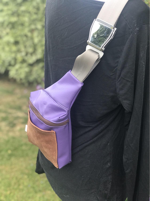 Lavender sling bag
