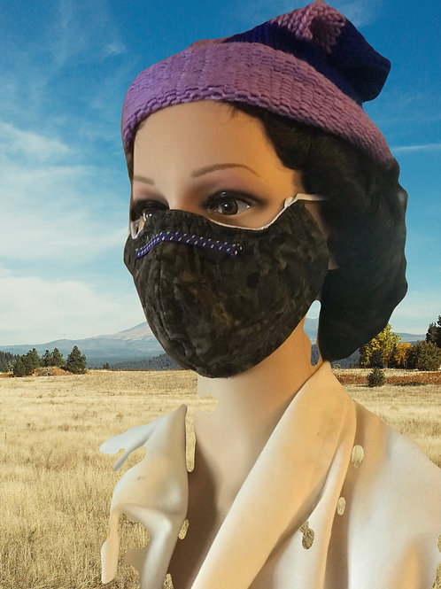 Camo filtered face mask