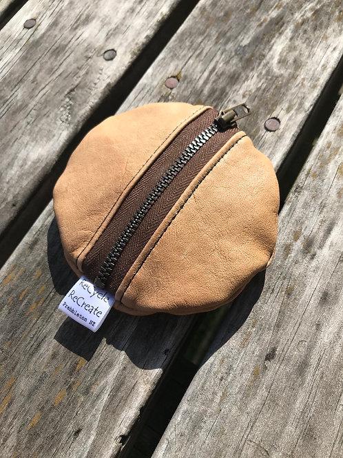 Hear we Go (brown) ear bud/cash pouch