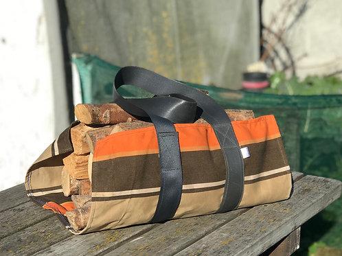 Retro Chocolate & Orange - firewood carrier