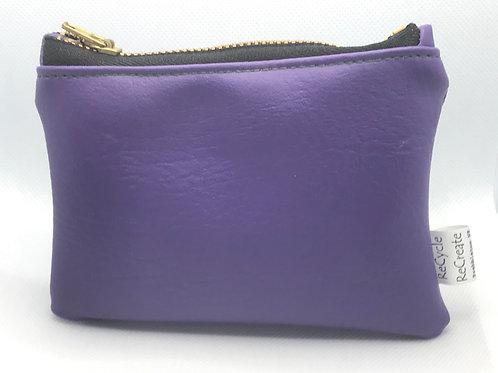 Purple pouch-black zip