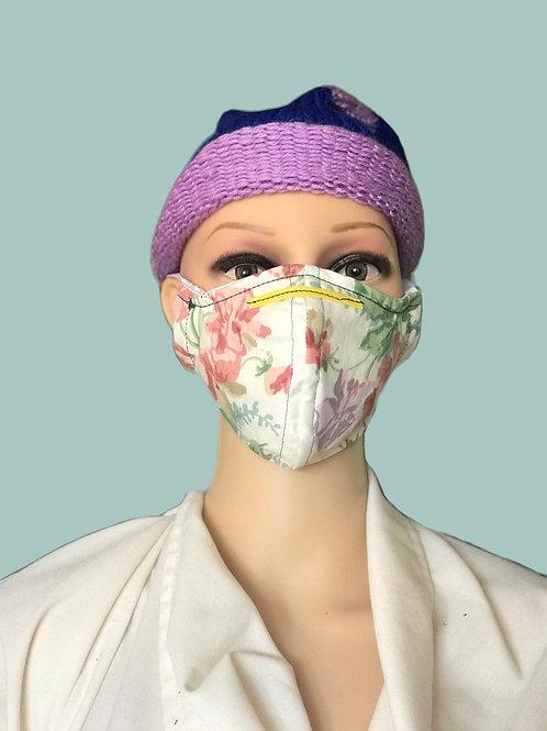 Vintage Floral filtered face mask